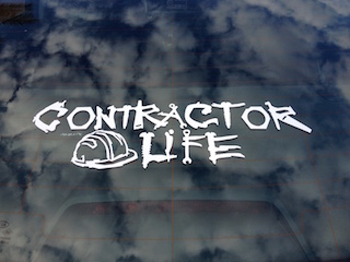 Contractor Life Decal - 6-Pack - 4