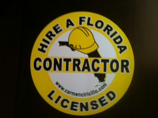 Hire A Florida Licensed Contractor Magnet - 7.5 inch Round Magnet
